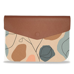 Beige Abstract Envelope Laptop Sleeve