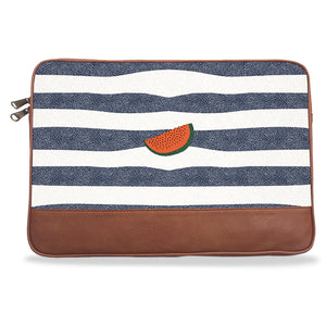 Watermelon Canvas & PU Leather Laptop Sleeve