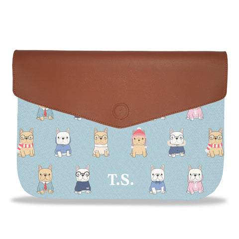 French Bulldog Pattern Envelope Laptop Sleeve