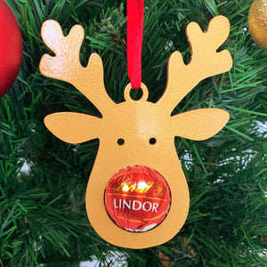 Christmas Ornament - Reindeer with Lindt Chocolate