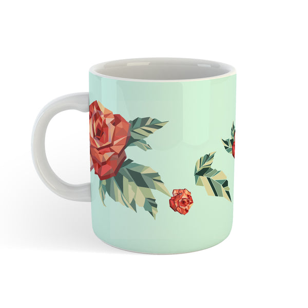 Origami Rose - Personalised Mug