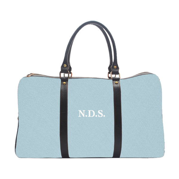Monogram Personalised Sky Blue Solid Colour - Duffle Bag