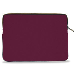 Maroon Solid Color Canvas Laptop Sleeve