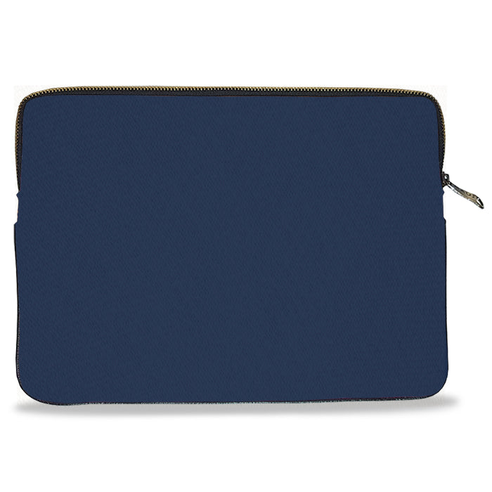 Navy Blue Solid Color Canvas Laptop Sleeve