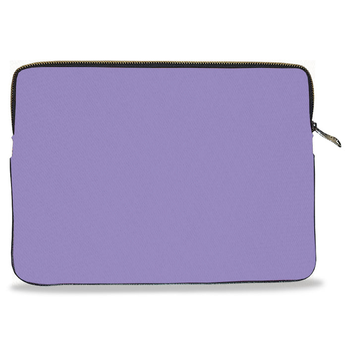 Lilac Solid Color Canvas Laptop Sleeve