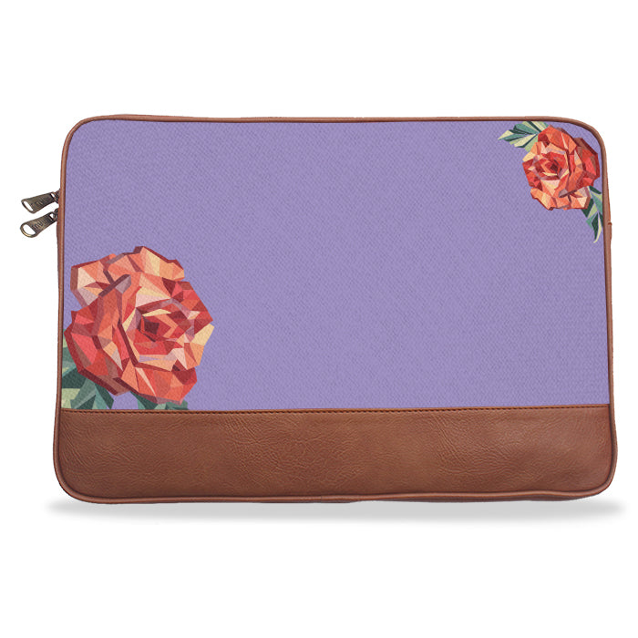 Lilac Solid Rose Canvas & Vegan Leather Laptop Sleeve
