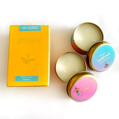 Relax Away - Candle & Artisan Tea Diwali Hamper