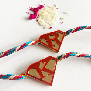 Personalised Rakhi - Super Letter - Tricolor