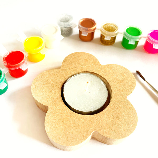DIY Tea Light Paint Kit - Flower