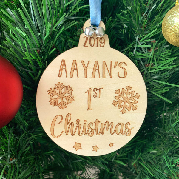 Personalised Christmas Ornament - My First Christmas