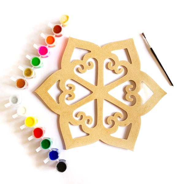 DIY Rangoli Paint Kit - Sunflower