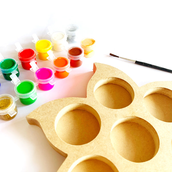 DIY Tea Light Paint Kit - Large Flower