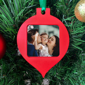 Photo Frame Christmas Ornament - Bauble