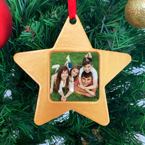 Photo Frame Christmas Ornament - Star