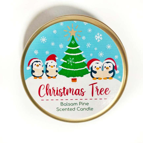 Christmas Tree Scented Candle - Balsam Pine