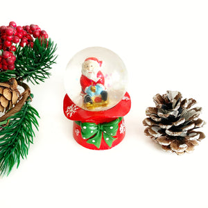 Mini Snow Globe - Santa on a sleigh