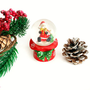 Mini Snow Globe - Santa near Christmas Tree