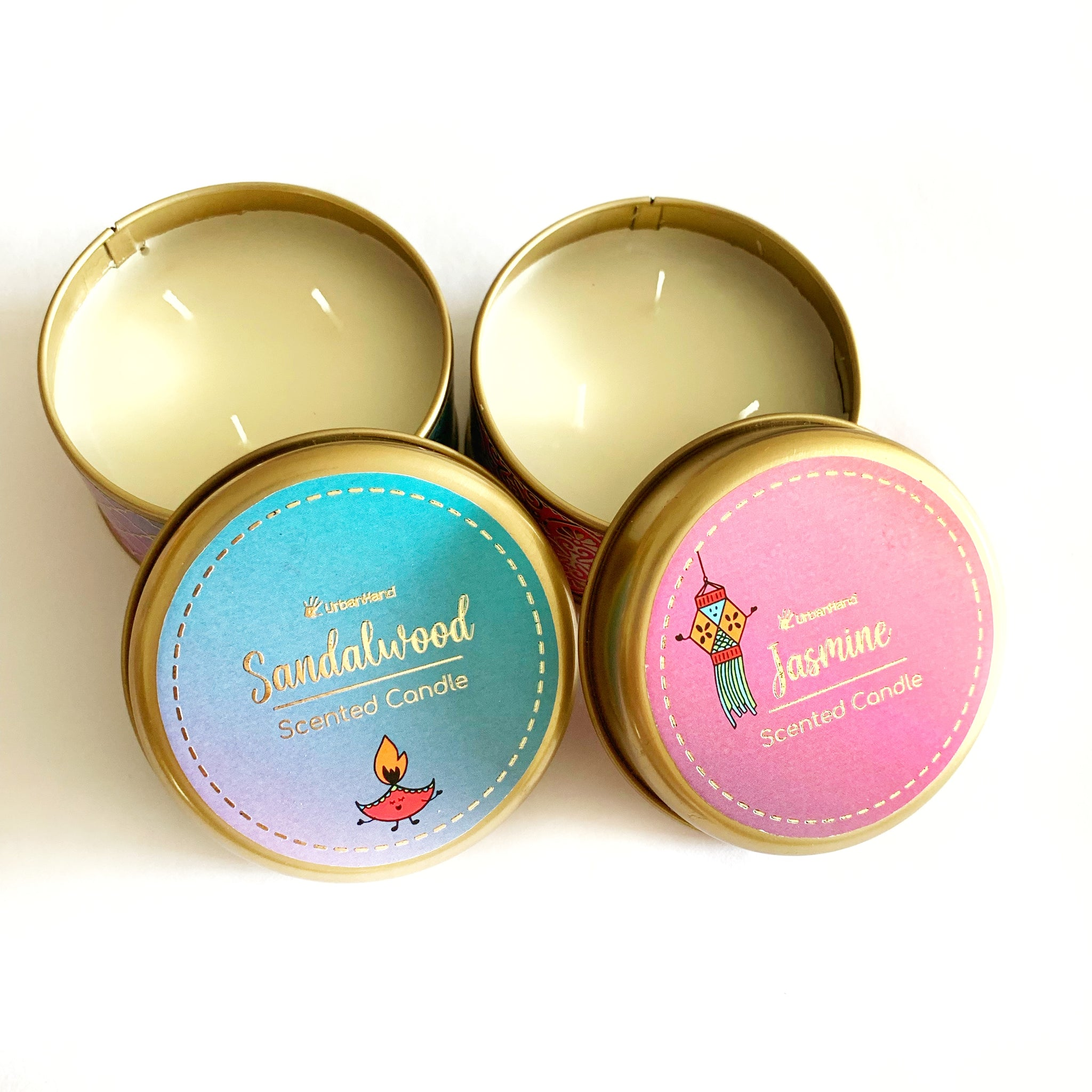 Jasmine & Sandalwood - Diwali Candles Set of 2