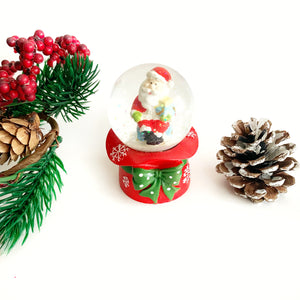 Mini Snow Globe - Santa Holding Gifts