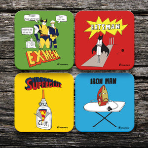 Superhero Coasters - Set of 4