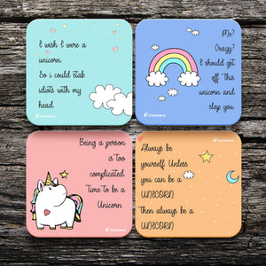 Unicorn Coasters - Set of 4