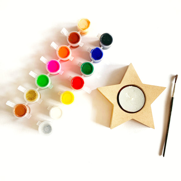 DIY Tea Light Paint Kit - Star