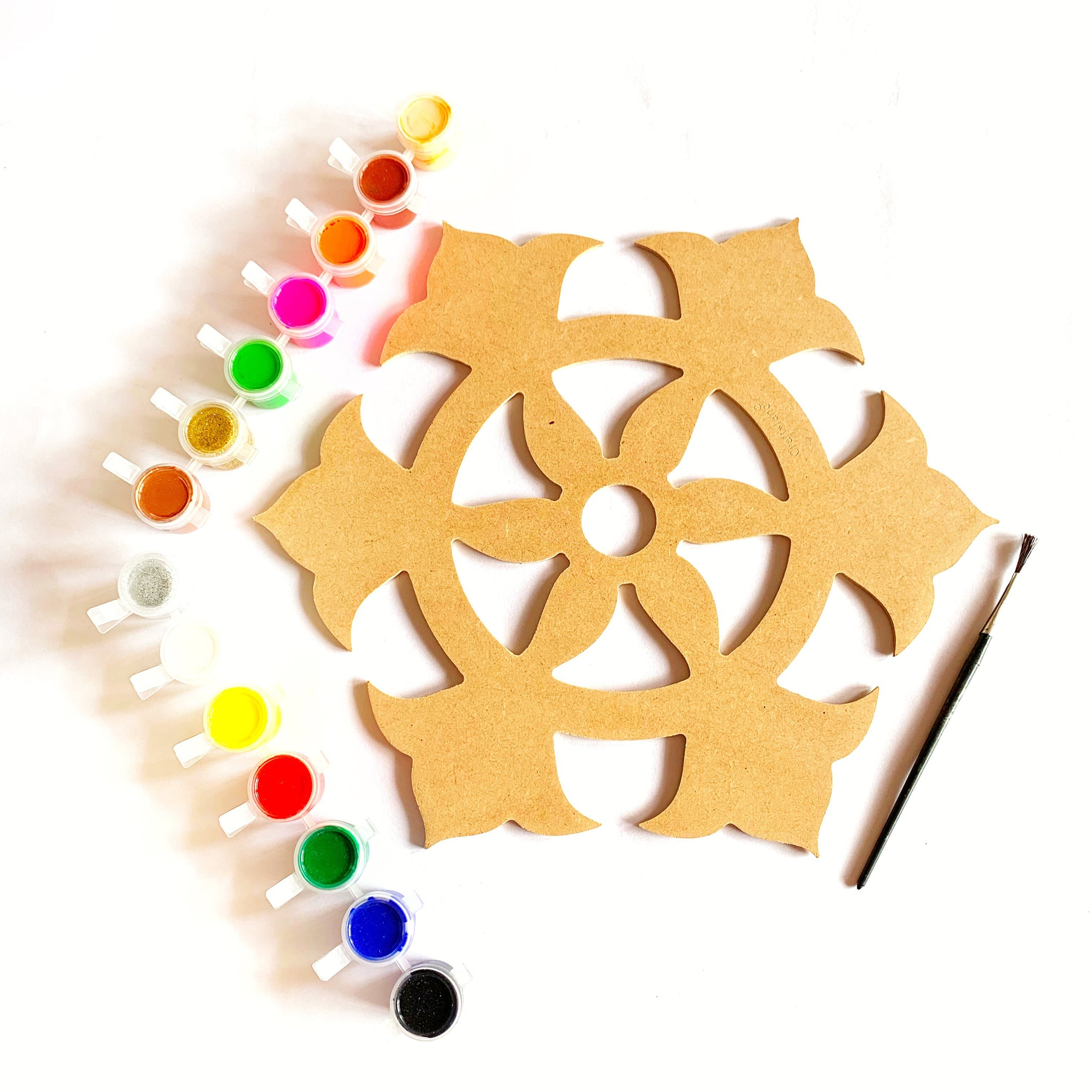 DIY Rangoli Paint Kit - Indian Flower