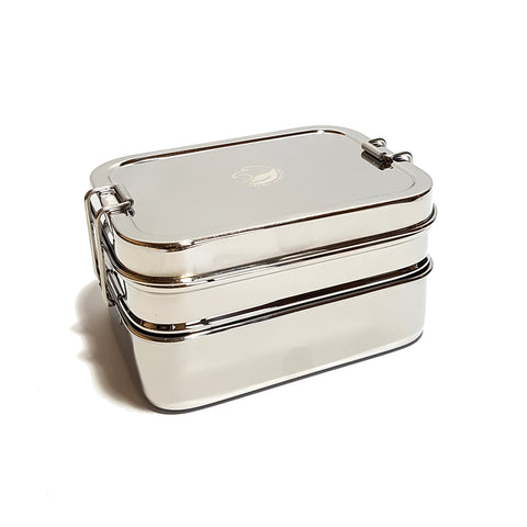 2 tier stainless steel lunchbox with mini