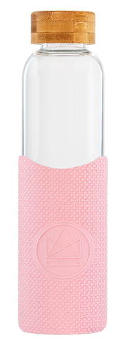 Reusable Glass Bottle - Pink Flamingo