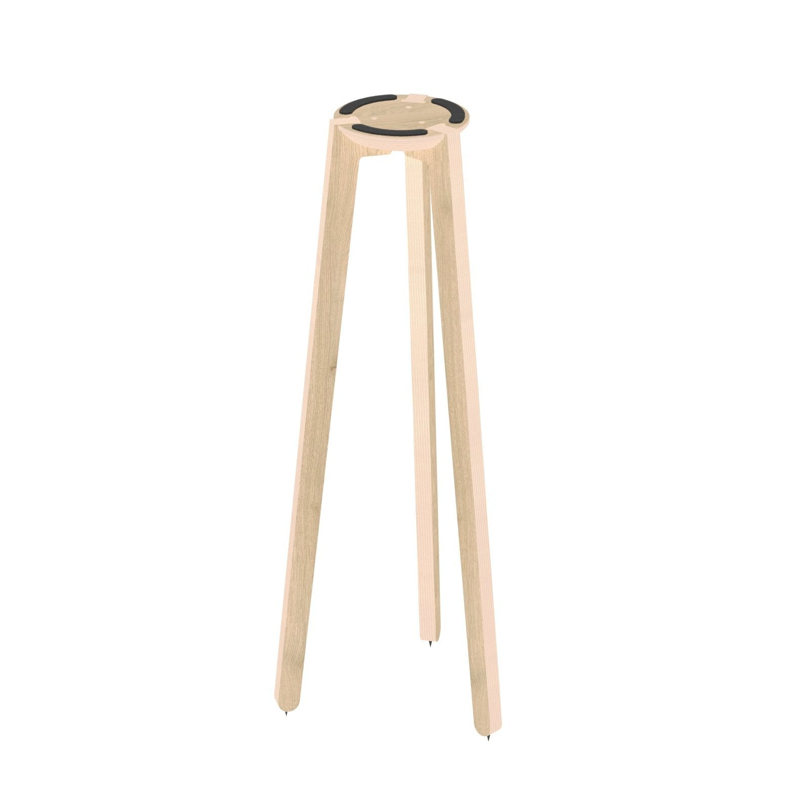 "HABIB/CO - Tripod Speaker Stand (natural) - 36"" height - 7.5"" base - Carpet Spikes : Yes"