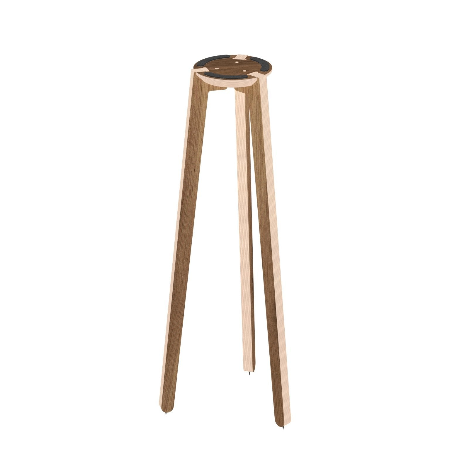 "HABIB/CO - Tripod Speaker Stand (walnut) - 36"" height - 7.5"" base - Carpet Spikes : Yes"