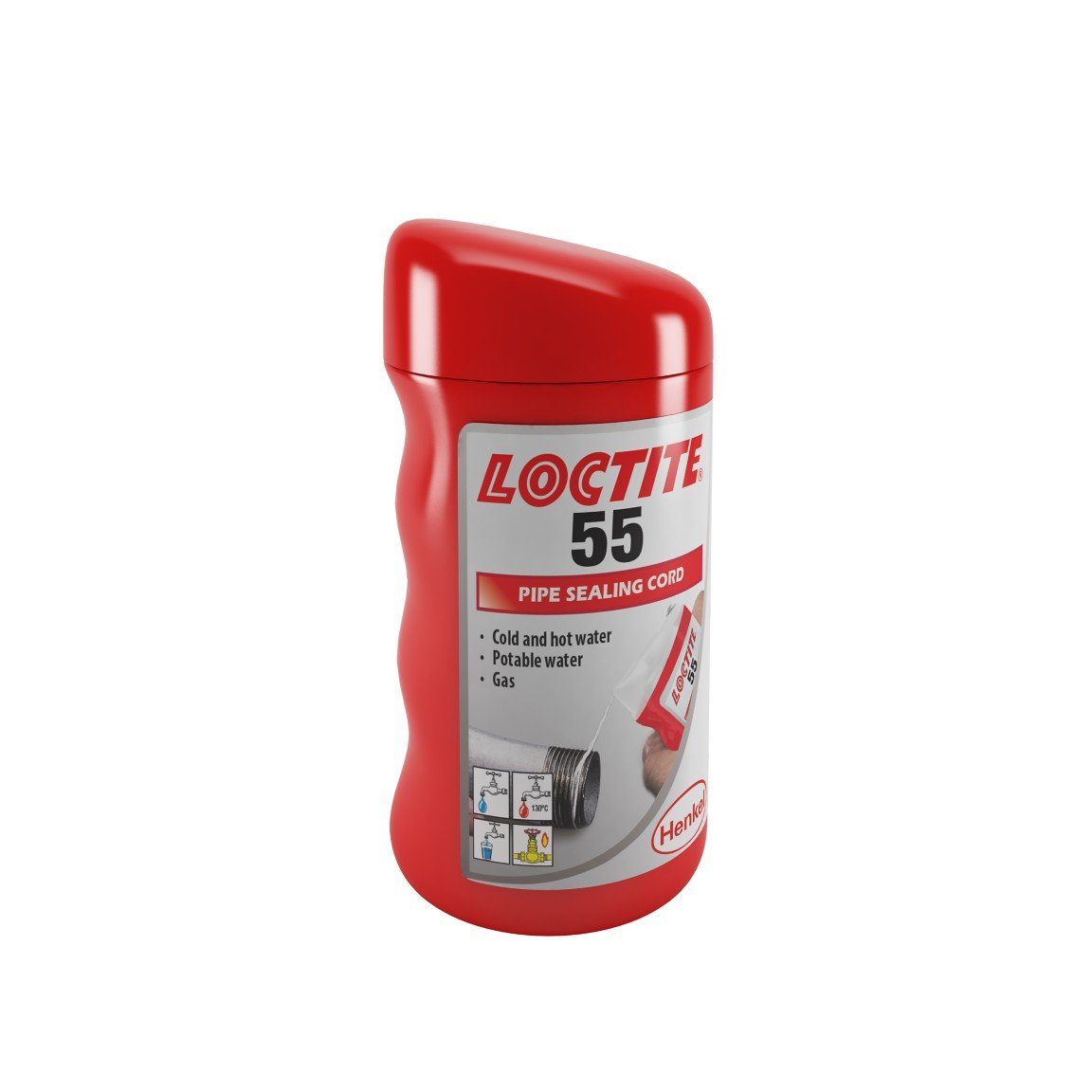 Loctite 55 Pipe Thread Sealing Cord 160 Metres for Hot or Cold Water and Gas - NPH Plumbing And Heating - nphplumbingandheating.co.uk