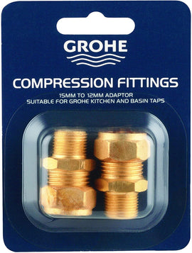 Grohe 46914000 46914000-15mm x 3/8'' UK Compression Fittings/Adapter