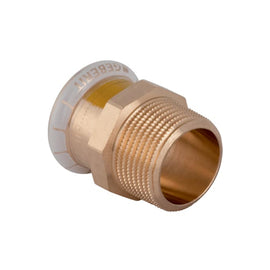 "Geberit Mapress Copper Male Adaptor 15mm x 1/2"" for Gas 34666"