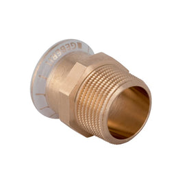 "Geberit Mapress Copper Male Adaptor 28mm x 1"" for Water 61708"