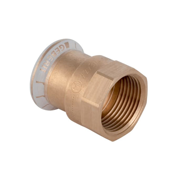 "Geberit Mapress Copper Female Adaptor 15mm x 1/2"" for Water 61802"