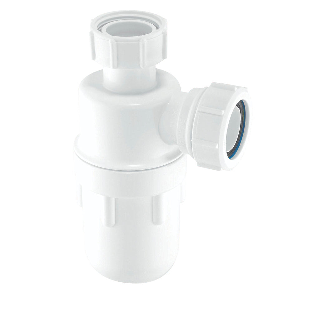 McAlpine C10 Bottle Trap White 40mm