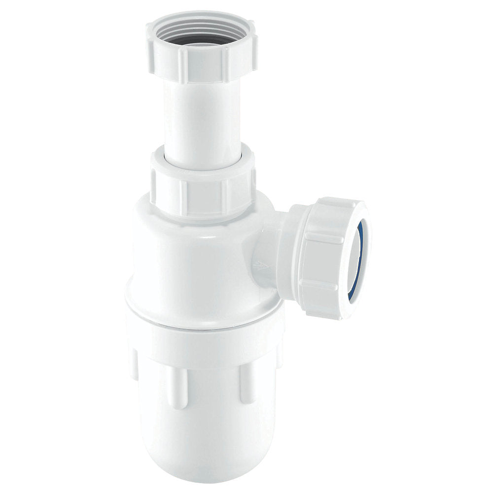 McAlpine C10A Adjustable Inlet Bottle Trap White 40mm