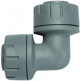 Polypipe PolyPlumb Elbow Grey 15mm - Pack of 10 ( PB115 )