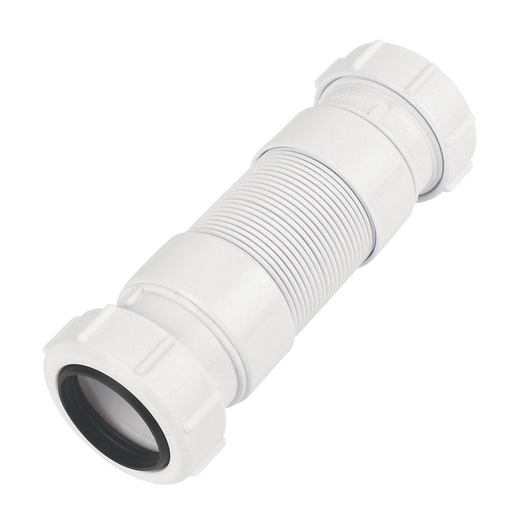 McAlpine FLEXCON3 FlexibleL Connector White 32MM X 165-250MM