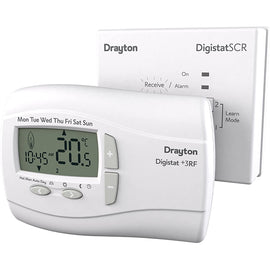 Drayton Digistat +3RF & Receiver, White RF701N