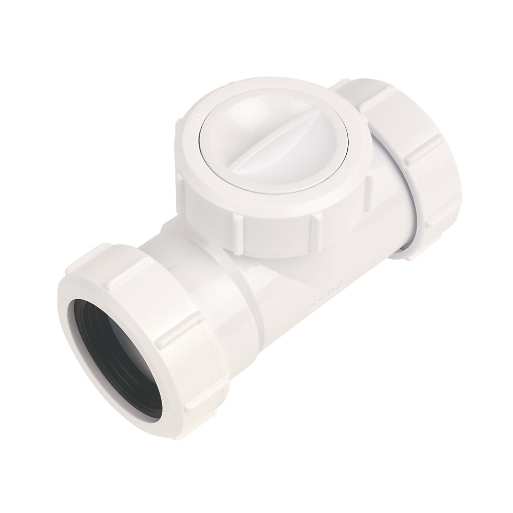 McAlpine T28M-NRV Non Return Valve White 40mm