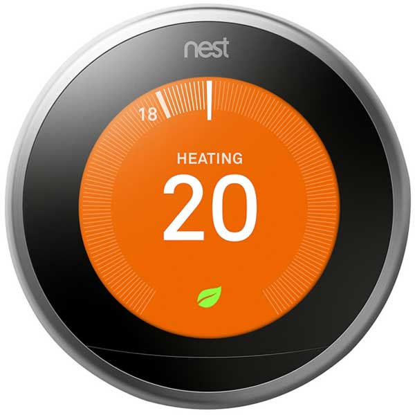 Nest Learning Thermostat 3rd Generation Stainless Steel T3028GB