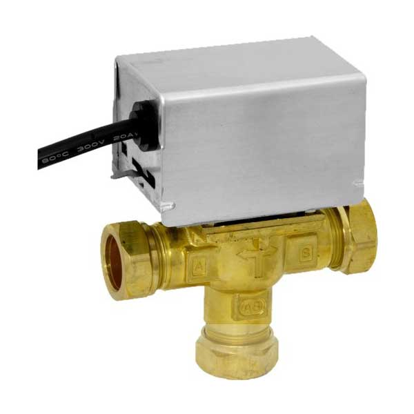 Honeywell 22mm Motorised 3 Port Mid-Position Valve V4073A1039