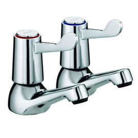 Bristan Value Lever Basin Taps Chrome VAL 1/2 C CD