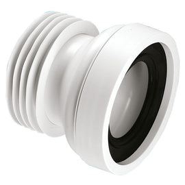 McAlpine WC-CON1 Straight Rigid WC Pan Connector White 110mm