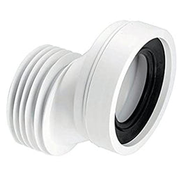 McAlpine WC-CON4A 40mm Offset Rigid WC Pan Connector White 110mm