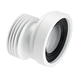 McAlpine WC-CON4 20mm Offset Rigid WC Pan Connector White 110mm