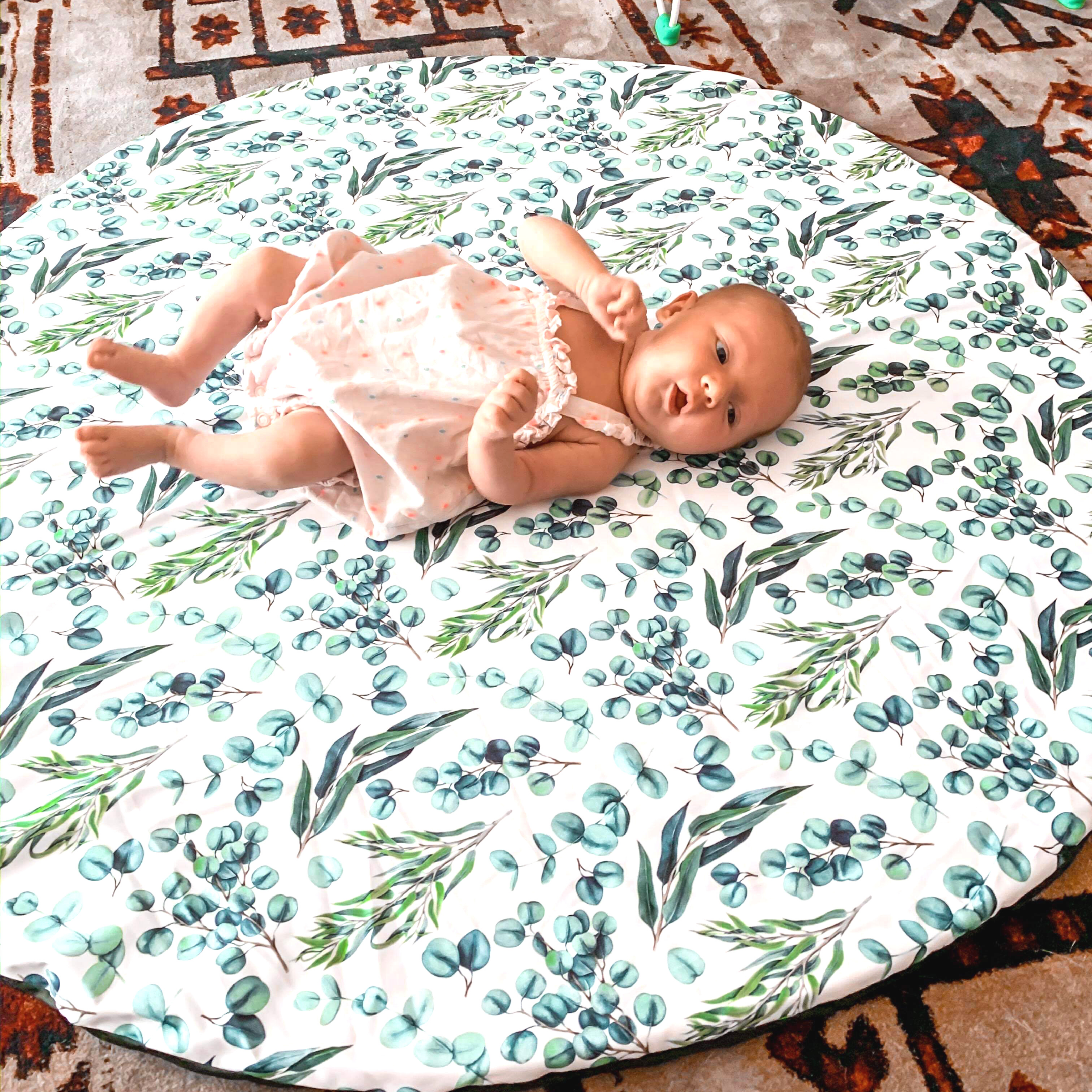 Waterproof Baby Play Mat | Eucalyptus