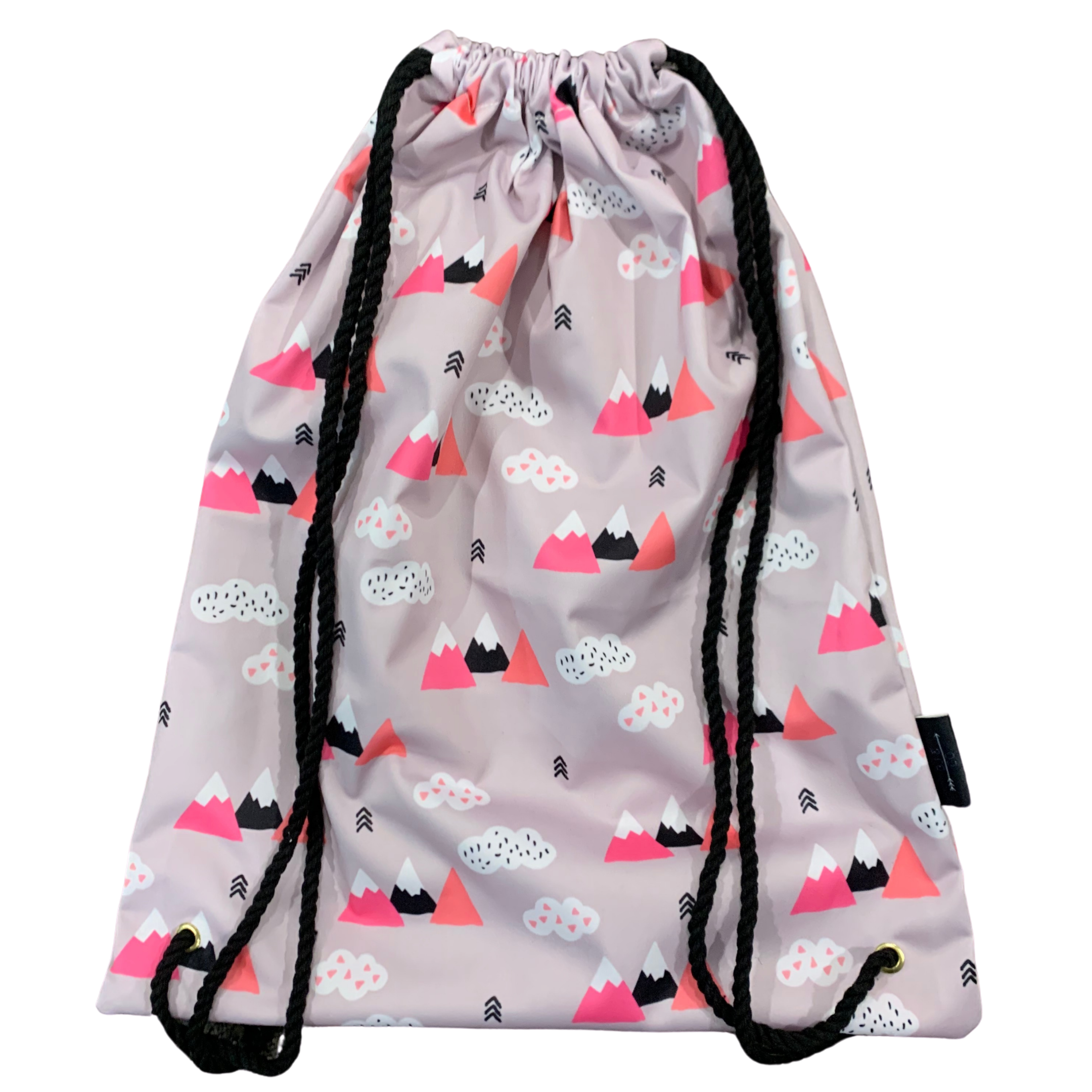 waterproof swimming bag wet bag pink geometric mountains
